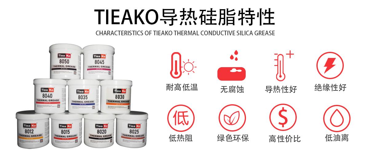 特固新材 TIieako导热硅脂 TK-8025 特固硅胶特性 导热膏/散热硅脂/散热膏